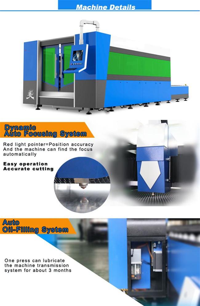 Tagliatrice della lamiera per laser a fibra 1500w