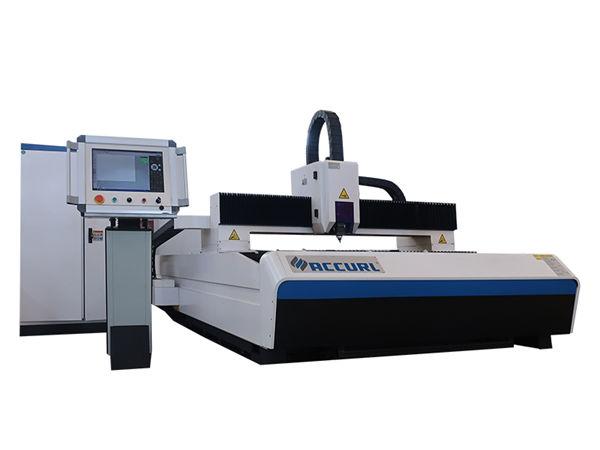 macchina cnc per taglio laser con piastra in acciaio al carbonio, attrezzatura per taglio laser in fibra