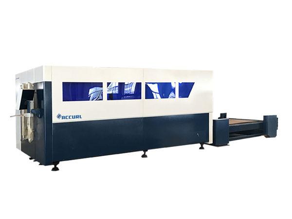 macchina da taglio laser a fibra cnc a piattaforma singola, taglierina per lamiera