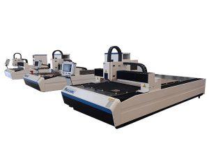 macchina da taglio laser a fibra di alta precisione con doppio motore lineare per piastra metallica