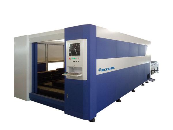 Macchina per taglio laser in acciaio 380v / 50hz, taglierina laser a fibra ottica intelligente