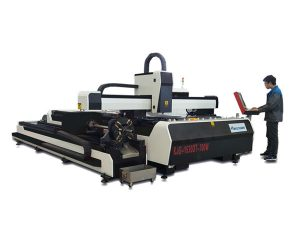 mini macchina da taglio laser ad alta potenza, attrezzatura per taglio laser a fibra con tavola di scambio