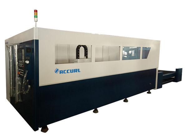 tagliatrice del tubo del laser della fibra di controllo di CNC, taglierina laser a fibra ottica d'argento